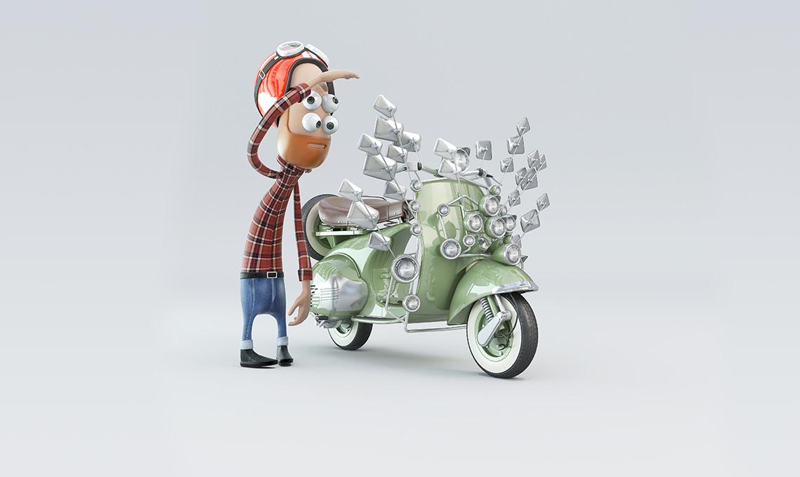 GALERIE-Dripmoon-Studio 3D-Tours-Motion design - Campagne sensibilisation Tramway - Character design 1