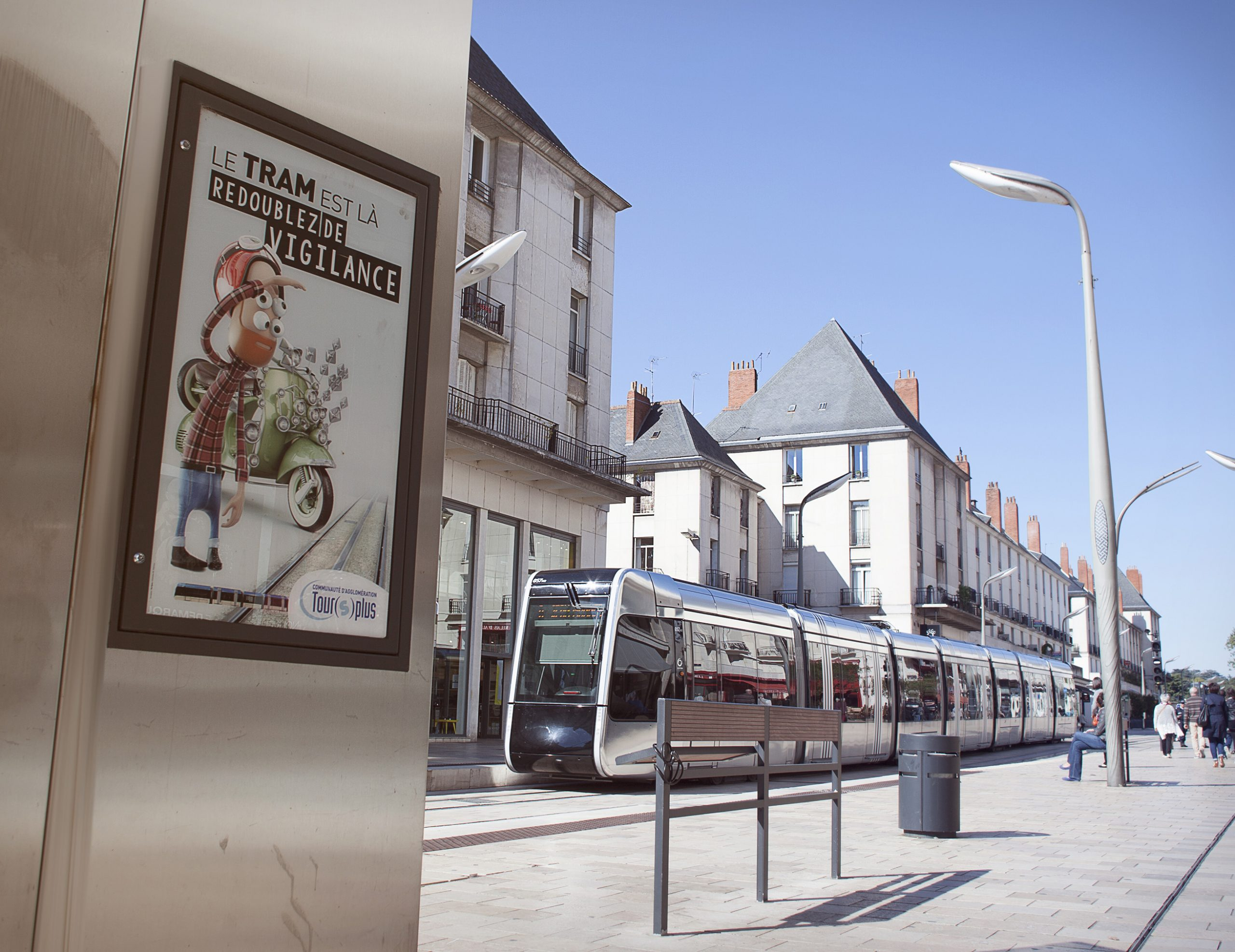 campagne de communication du Tramway à Tours