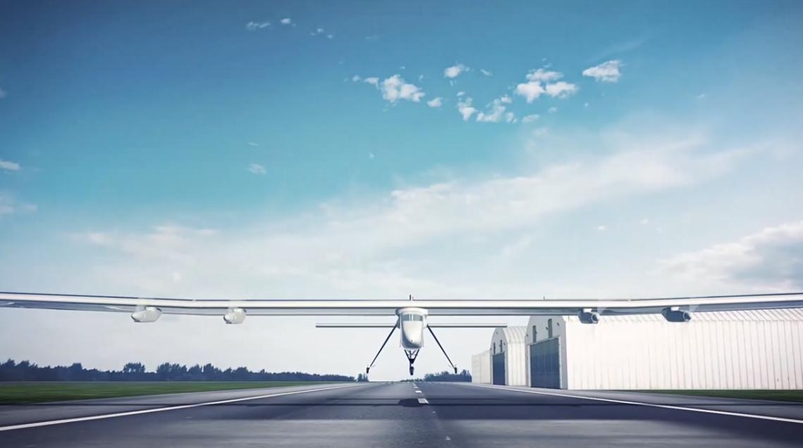 Production d'une animation 3D pour présentation de l'avion solaire