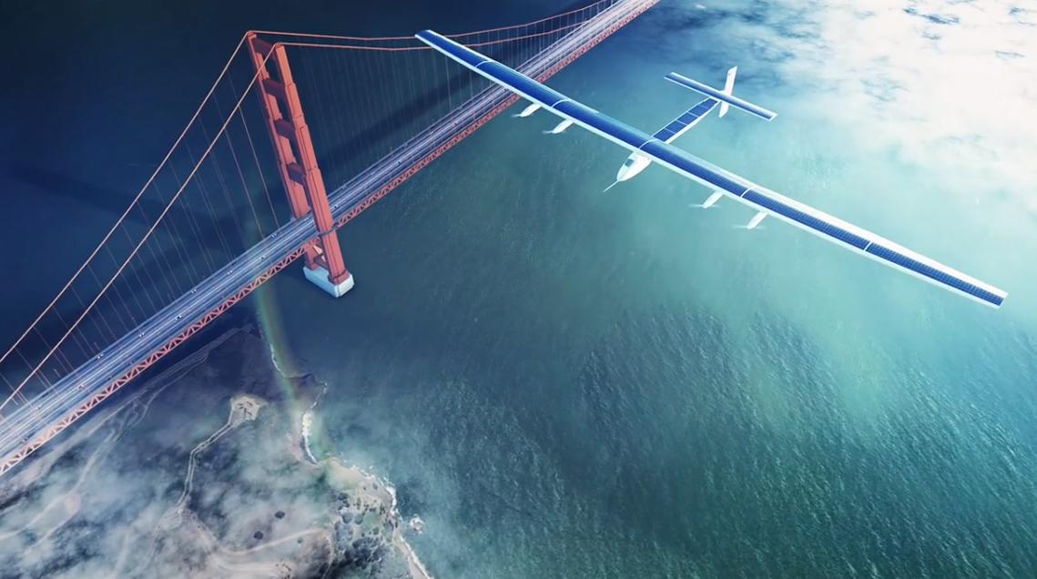 Modélisation et animation 3D avion Solar Impulse