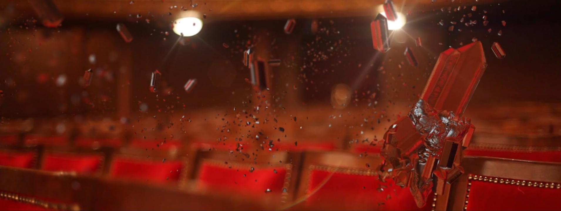 Intégration 3D - Particules théâtre de Tours
