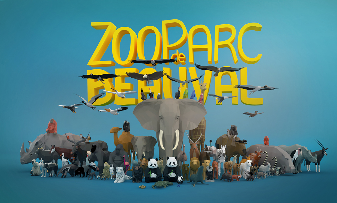 GALERIE-Dripmoon-Studio 3D-Tours-Motion design - Zooparc de Beauval Plan du parc Poster 1