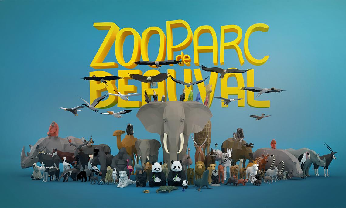 Création du logo 3D - Zooparc de Beauval - Illustrateur graphiste à Tours 37