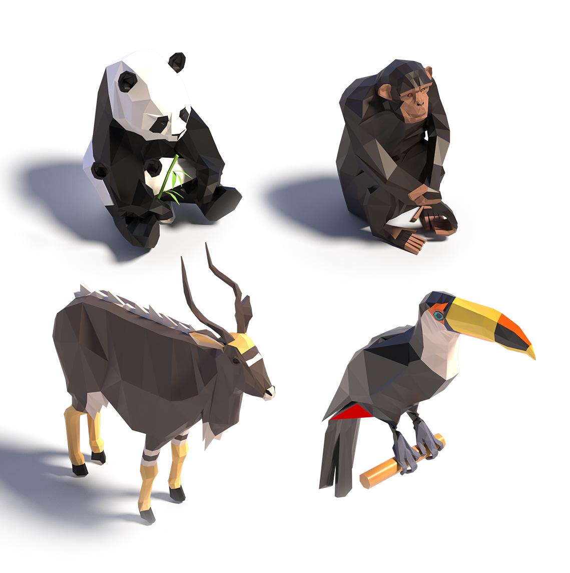 Dripmoon Illustration et Modélisation 3D des animaux pour le plan du Zooparc de Beauval