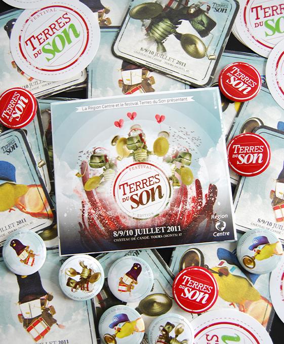 GALERIE-Dripmoon-Studio 3D-Tours-Motion design - Affiche terres du son festival musique 2011 3