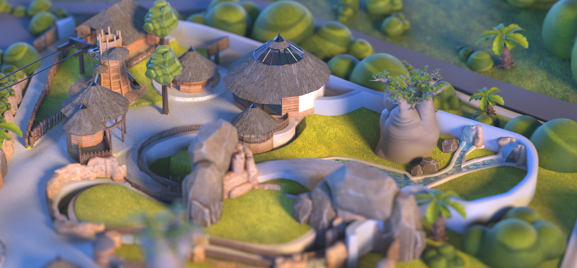 Dripmoon - Visuel en 3D pour le zooparc de Beauval