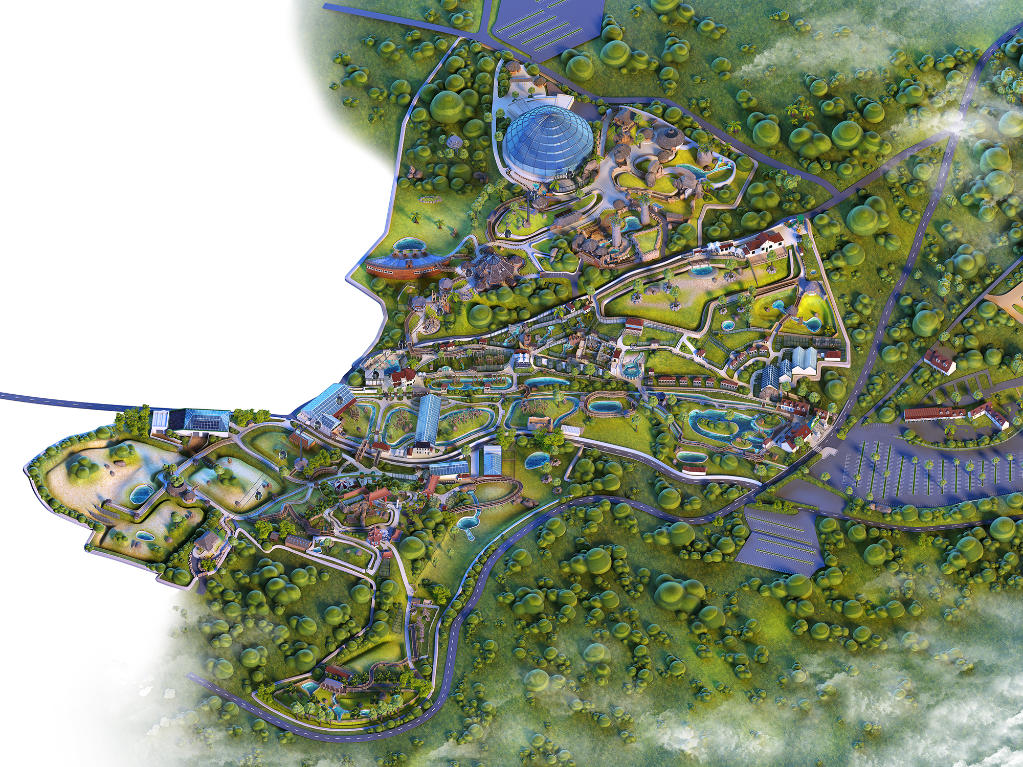Modélisation 3D Zooparc Beauval